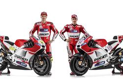 Andrea Iannone und Andrea Dovizioso, mit der Ducati Desmosedici GP15