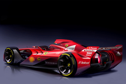 Концепт-кар Формулы 1 от Ferrari, рисунки.