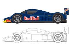 Концепт-кар Red Bull для Ле-Мана, рисунки.