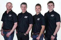 Warren Scott, Jason Plato, Colin Turkington en Aron Smith