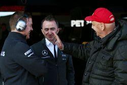 Paddy Lowe, Mercedes AMG F1, Teamchef, und Niki Lauda, Aufsichtsratsvorsitzender Mercedes AMG F1