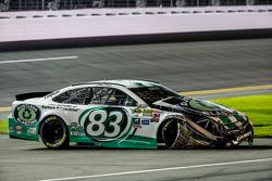 Johnny Sauter, BK Racing, Toyota, in Schwierigkeiten