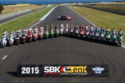 Foto dos pilotos da World Superbike