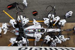 Felipe Massa, Williams FW37 en un pit stop