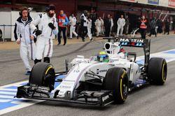 Felipe Massa, Williams FW37 en pits