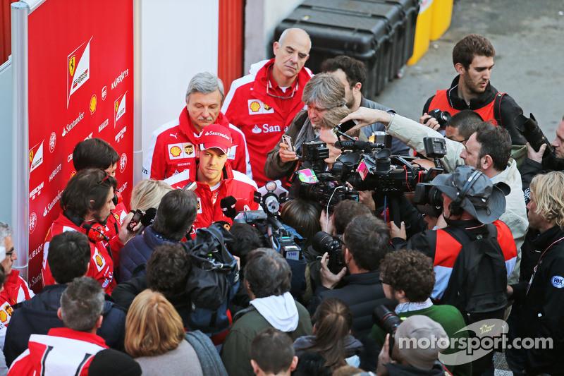 Sebastian Vettel, Ferrari con los medios