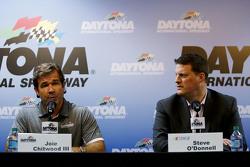 Joie Chitwood III, Daytona International Speedway en NASCAR Senior Vicepresident Steve O'Donnell pra