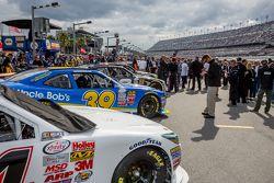 Cars get ready on pit lane