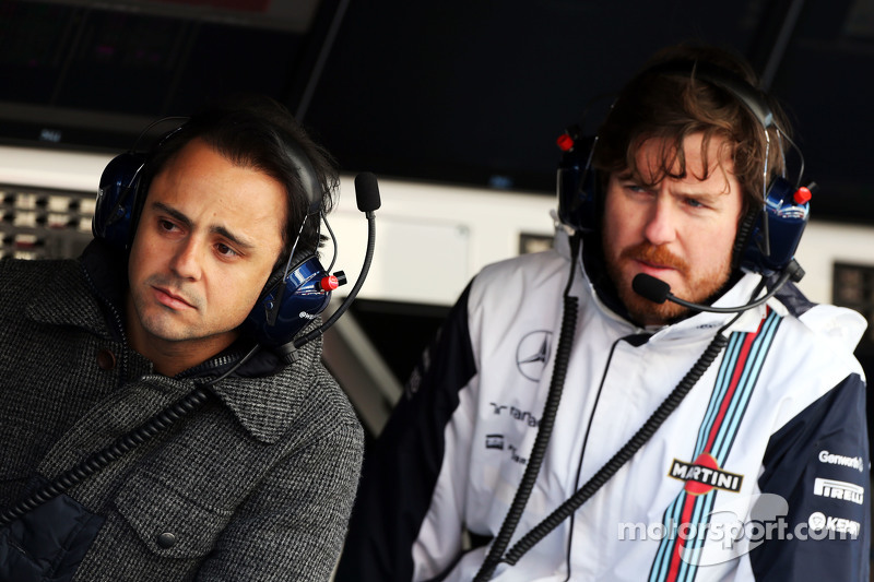 (Von links nach rechts): Felipe Massa, Williams, mit Chefingenieur Rob Smedley