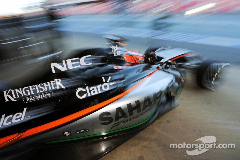 Nico Hülkenberg, Sahara Force India F1 VJM07, verlässt die Box