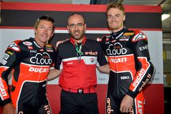 Troy Bayliss and Chaz Davies, Ducati Corse