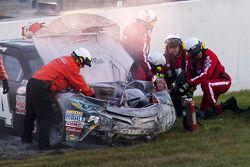 Kyle Busch, Joe Gibbs Racing, Toyota, nach einem Unfall