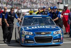 O carro de Jimmie Johnson, Hendrick Motorsports Chevrolet