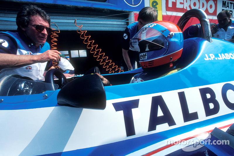 Gérard Ducarouge con ean-Pierre Jabouille, Talbot Ligier