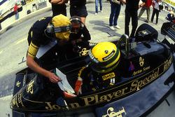 Ayrton Senna, Lotus con Gérard Ducarouge