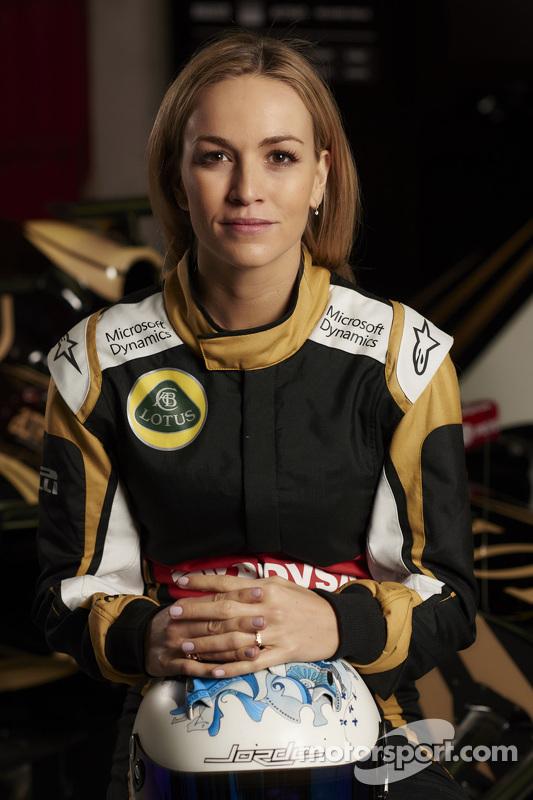 Carmen Jorda, pilota collaudatrice della Lotus F1 Team