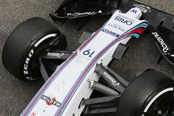 Williams FW37 detail suspensi depan
