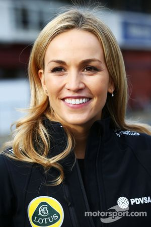 Carmen Jorda, piloto de Lotus F1 Equipo de Desarrollo