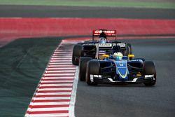 Маркус Эрикссон. Тесты Ф1 в Барселоне II, день 1.