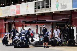 Valtteri Bottas, Williams FW37: essai d'arrêt au stand