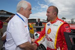 Roger Penske with Marcos Ambrose, Team Penske Ford