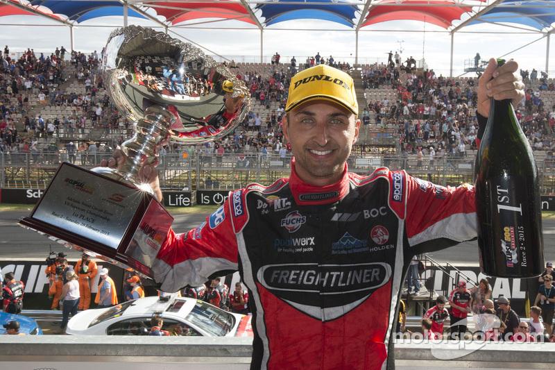 Race winner Fabian Coulthard, Brad Jones Racing Holden