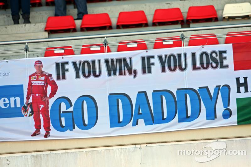 Plakat für Kimi Räikkönen, Ferrari
