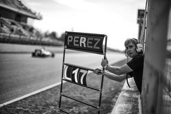La tabla de los pits de Sergio Pérez, Sahara Force India F1