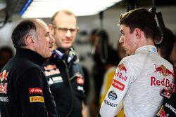 Franz Tost, jefe de la Scuderia Toro Rosso con Max Verstappen
