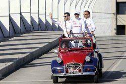 Sébastien Loeb, Jose Maria Lopez, Yvan Muller, Citroen during a roadshow in Cordoba