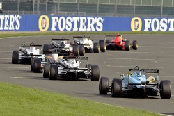 British F3 cars in action