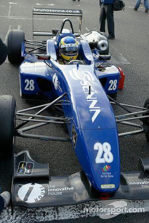 Bruno Senna on the grid