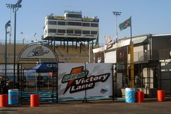 Gatorade Victory Lane sits empty for now