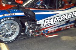 Accident damage to #3 Southard Motorsports BMW Riley: Shane Lewis, Darius Grala
