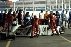 No. 01 pushed to garage