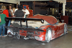 Fire damage to #99 Gainsco/ Blackhawk Racing Pontiac Riley: Bob Stallings, Alex Gurney