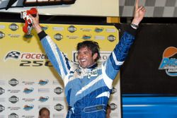 Victory lane: race winner Christian Fittipaldi celebrates