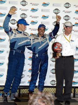Podium: race winners Jorg Bergmeister and Christian Fittipaldi