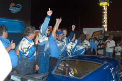 Victory lane: race winners Jorg Bergmeister, Christian Fittipaldi and Krohn Racing/ TRG celebrate