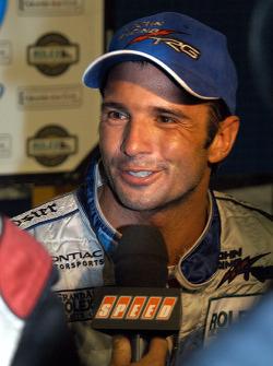 Victory lane: race winner Christian Fittipaldi