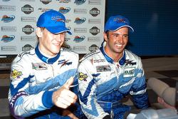 Victory lane: race winners Jorg Bergmeister and Christian Fittipaldi