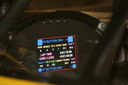 Instrument panel on the Corvette C6-R