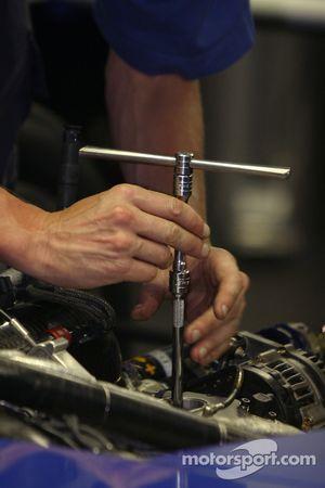Dyson Racing team member at work