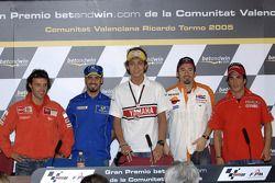 Conferencia de prensa: Loris Capirossi, Marco Melandri y Toni Elias, Valentino Rossi, Alex Barros