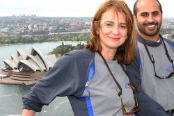 Sydney Harbour Bridge walk: Sheikh Maktoum Hasher Maktoum Al Maktoum with Australian Minister of Sports Sandra Nori