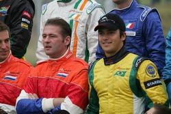 Fotoshoot: Jos Verstappen en Nelson Piquet Jr