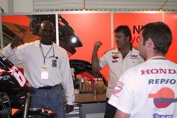 Michael Jordan in the team Repsol pitbox