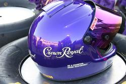 A pit helmet for Kurt Busch's crew
