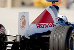 The rudder on the BAR Honda 007 Bonneville 400 record car