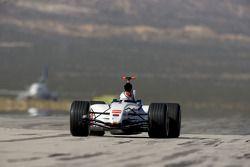 Alan van der Merwe runs on the Mojave Airport